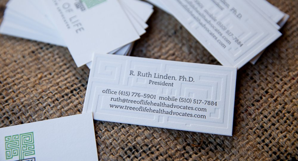 Blind Deboss, Letterpress Printed, Die Cut, Business Card, Graphic Design, Custom Design