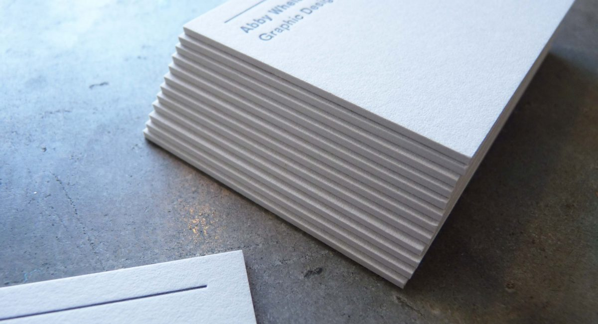 Graphic Design, Extra Thick Stock, Thick Paper, Letterpress Printing, Business Cards