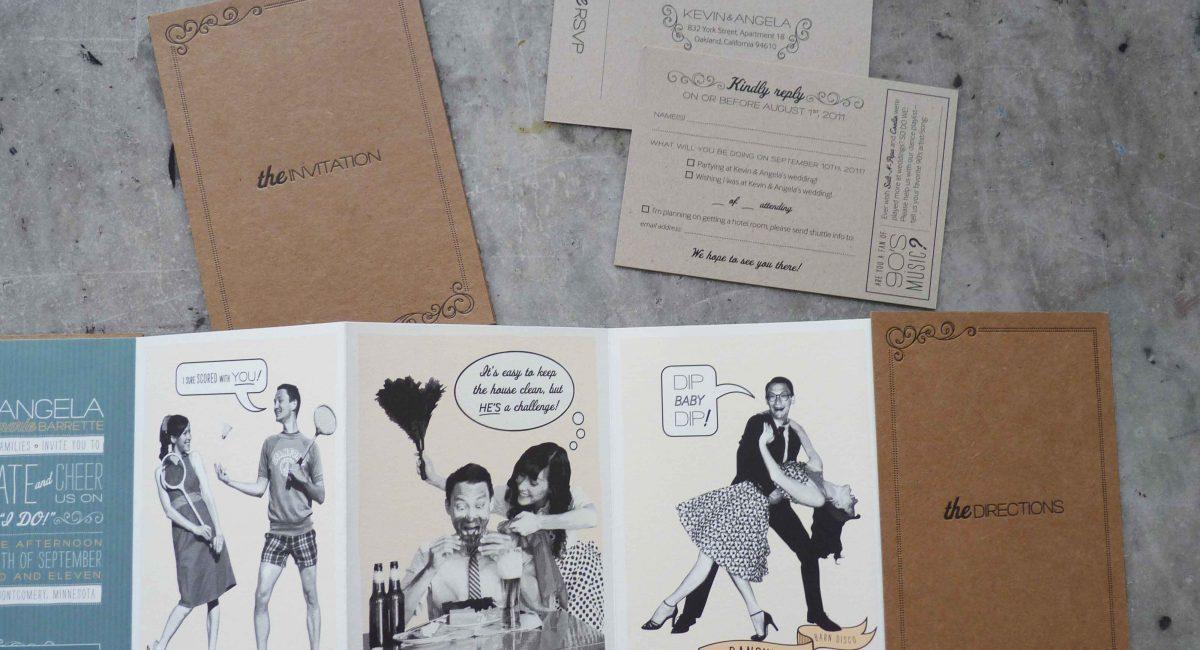 Accordion Book, Digital Printing, Letterpress Printed, Wedding Invitations, Wedding Suite, Wedding Invites, Invites, Invitations, Custom Design, Graphic Design