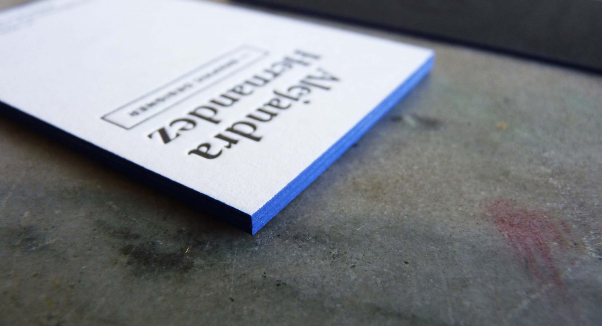 Duplex, Blind Deboss, Letterpress Printing, Edge Painting, Business Cards, Graphic Design