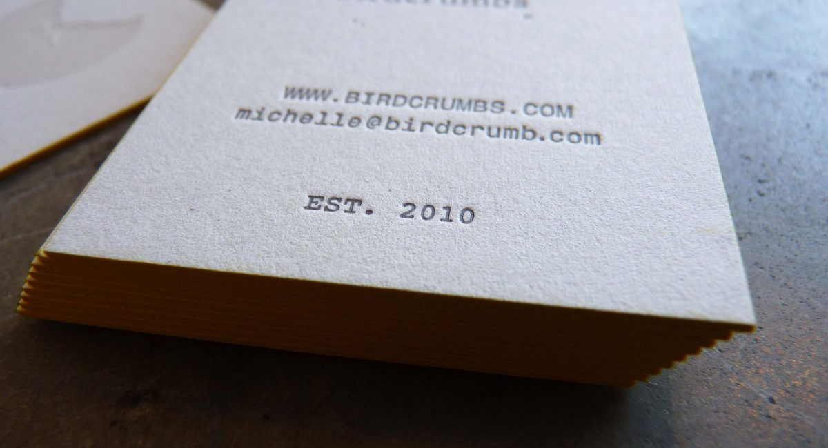 Tint, Blind Deboss, Edge Painting, Unusual Paper, Letterpress Printing, Business Cards, Graphic Design