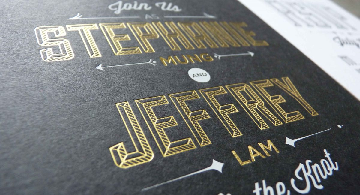 Wedding Invitations, Foil Stamped, Unusual Paper, Black, Gold Foil, Black Foil, Wedding Suite, Custom Design, Invitations, Wedding Stationery