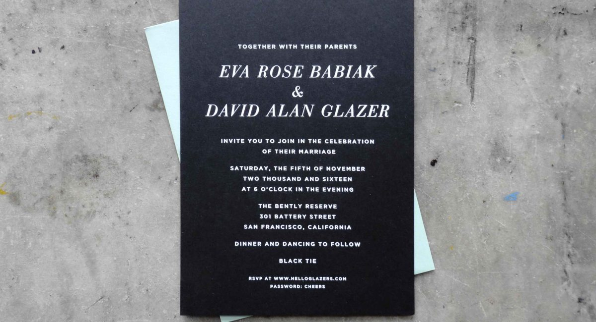 Wedding Invitations, Foil Stamped, Unusual Paper, Black Paper, White Foil, Wedding Suite, Custom Design, Invitations, Wedding Stationery