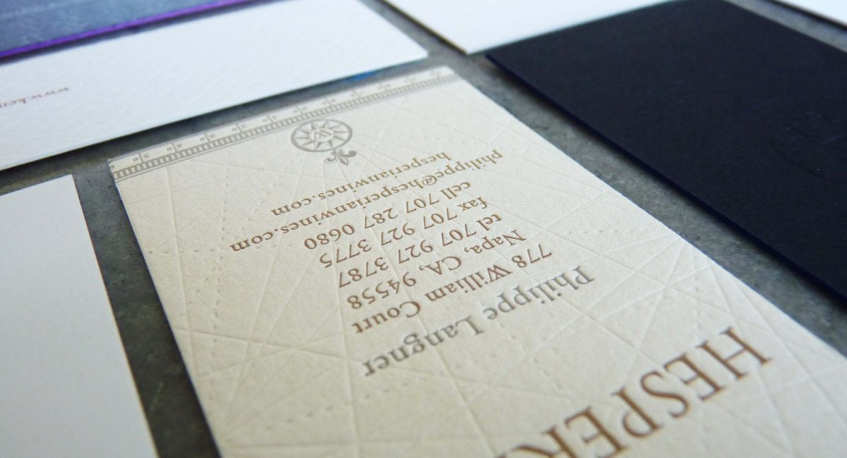 Blind Deboss, Letterpress Printing, Business Cards