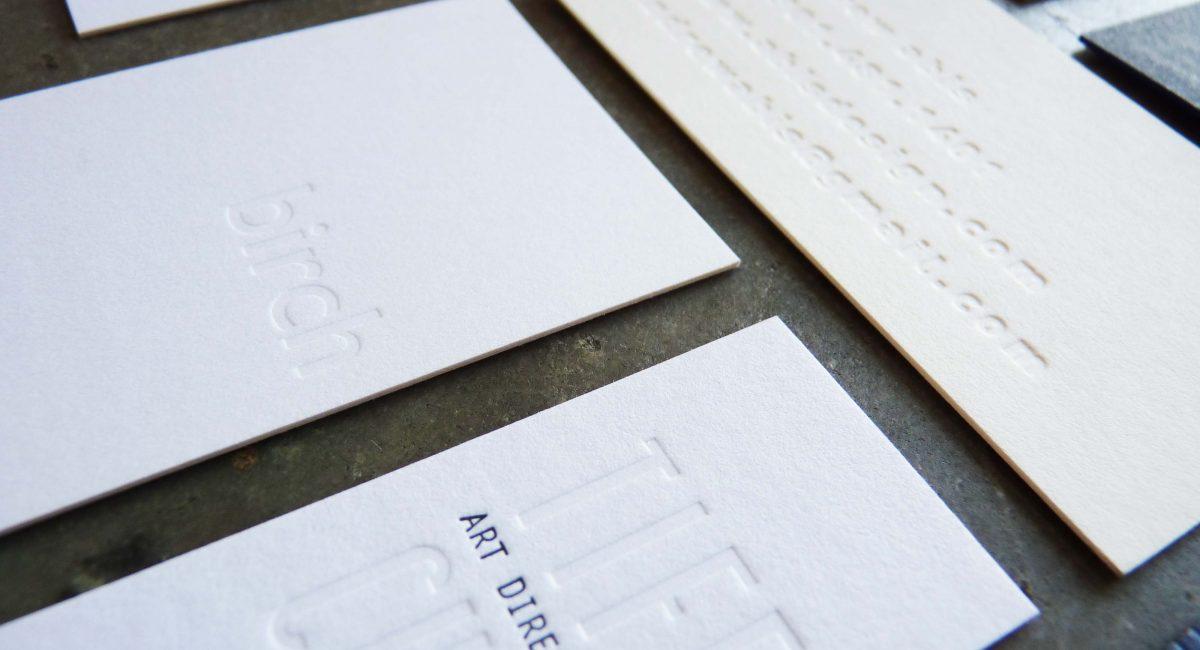 Blind Deboss, Letterpress Printing, Business Cards