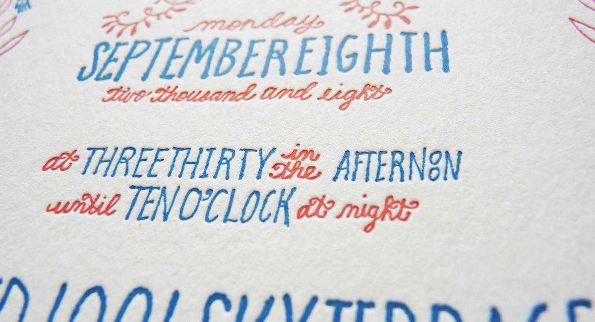 Letterpress Printed, Wedding Invitations, Letterpress Printed, Wedding Suite, Custom Design, Invitations, Wedding Stationery, Handlettered, Illustration