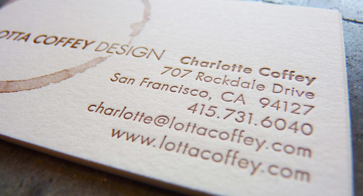 Graphic Design, Letterpress Printing, Unusual Paper, Odd-Size, Business Cards