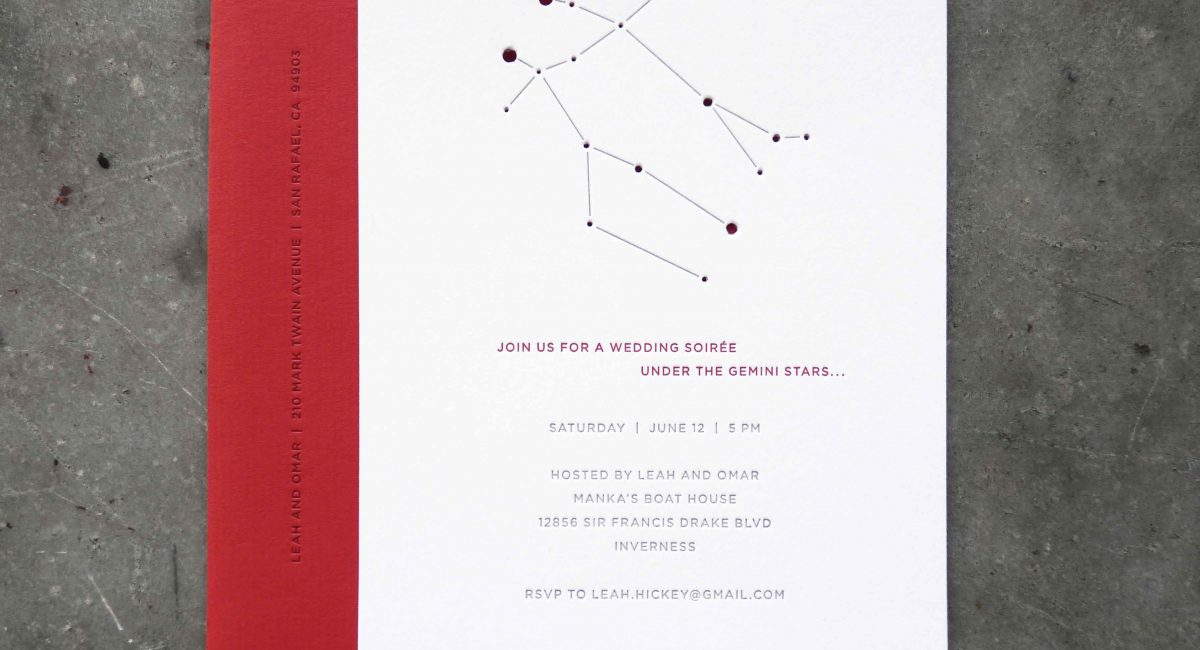 Wedding Invitations, Letterpress Printed, Wedding Suite, Custom Design, Invitations, Wedding Stationery, Constellations