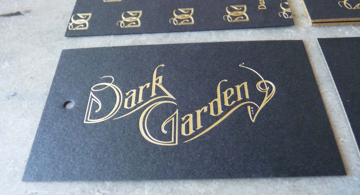 Black Paper, Unusual Stock, Gold Foil, Foil Printing, Foil Stamping, Letterpress Printing, Hang Tags, Business Cards, Edge Painting, Painted Edges