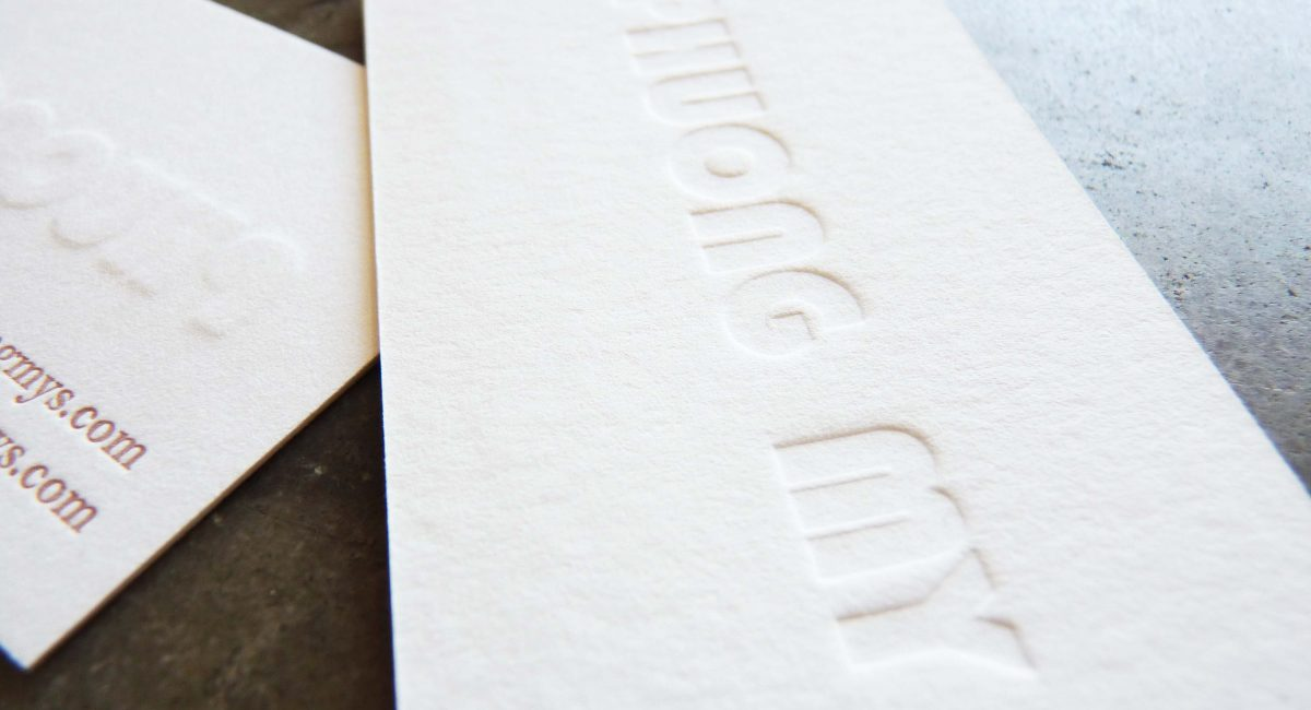 Blind Deboss, Letterpress Printing, Business Cards, Graphic Design