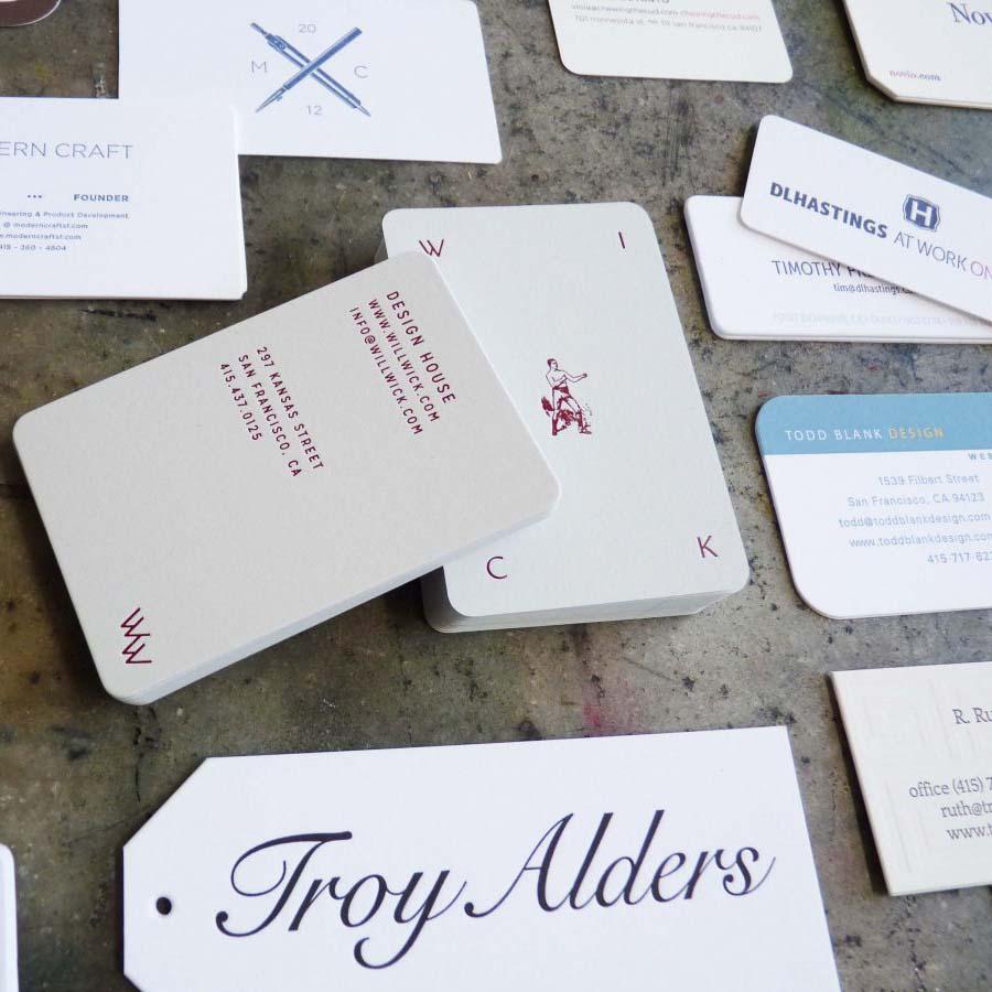 Die Cut Business Cards   Paper Story - Dependable Letterpress