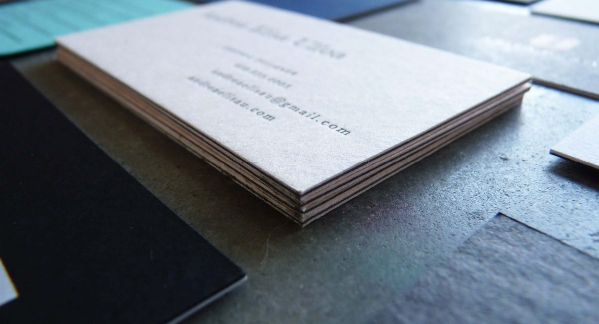 Duplexed Business Cards | Paper Story - Dependable Letterpress