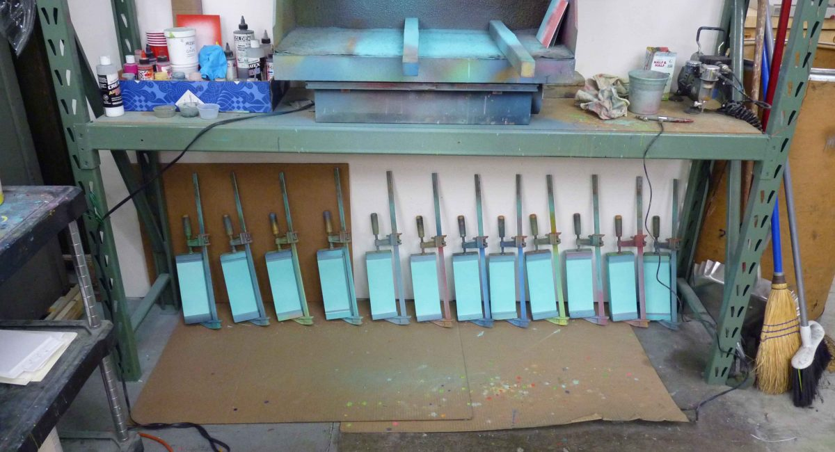 Edge Painting, Painted Edge, Letterpress Printing