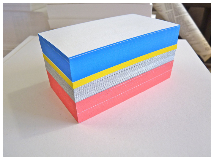business cards with painted edges