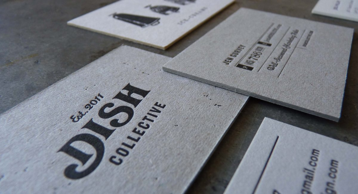 Thick Paper, Thick Stock, Unusual Paper, Letterpress Printing, Business Cards, Graphic Design