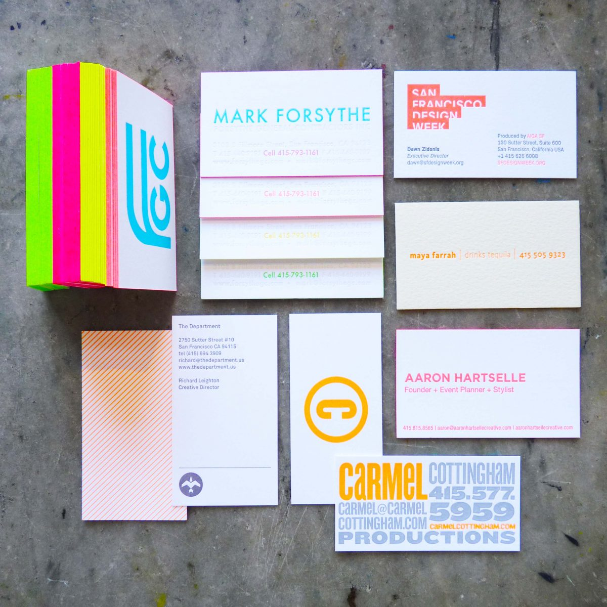 Business card fluorescence paper story dependable letterpress business card fluorescence paper story reheart Choice Image