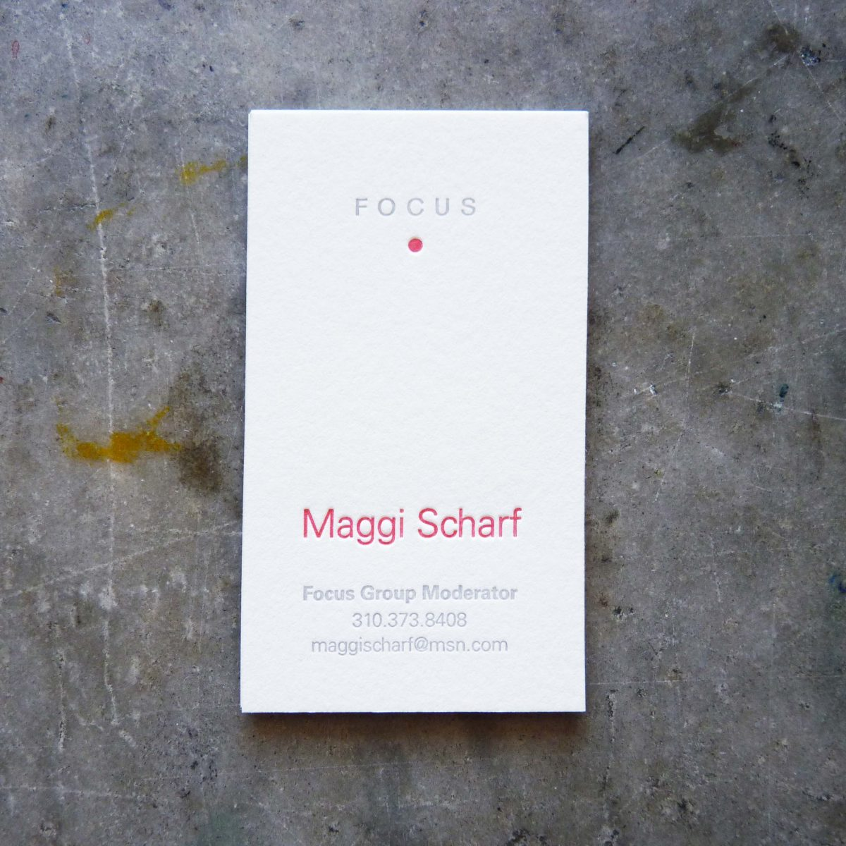 Focus business cards paper story dependable letterpress focus business cards paper story letterpress printing reheart Images