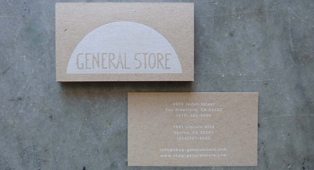 General store business cards paper story dependable letterpress letterpress printing business cards graphic design unusual paper white letterpress chipboard colourmoves