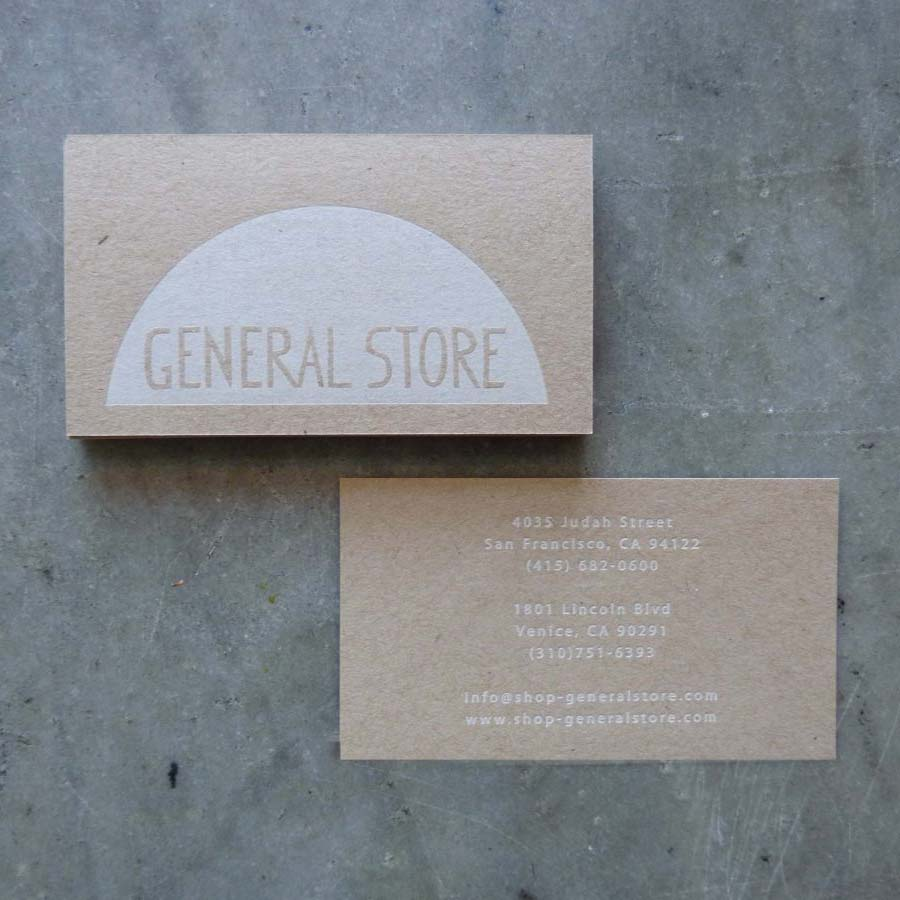 General Store Business Cards   Paper Story - Dependable Letterpress