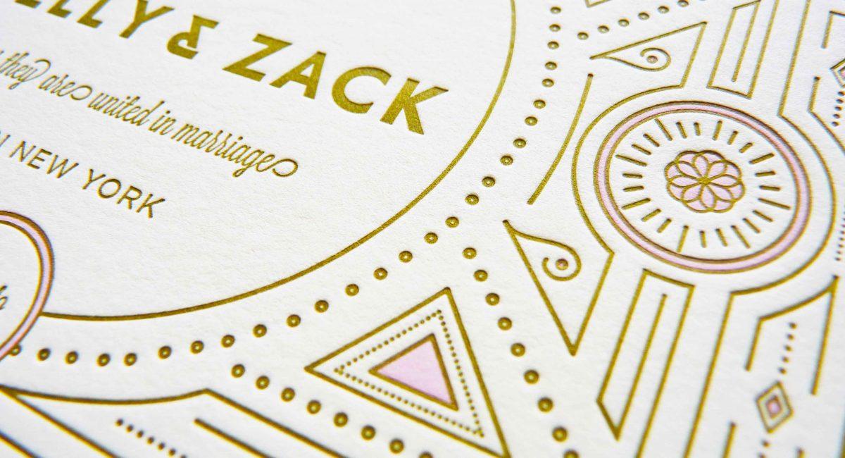 Wedding Invitations, Gold Metallic Ink, Wedding Suite, Custom Design, Invitations, Wedding Stationery, Letterpress Printed