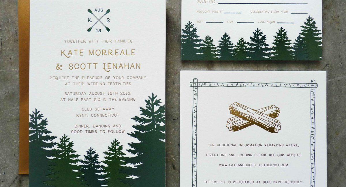 Wedding Invitations, Foil Stamped, Gold Foil, Wedding Suite, Custom Design, Invitations, Wedding Stationery, Letterpress Printed