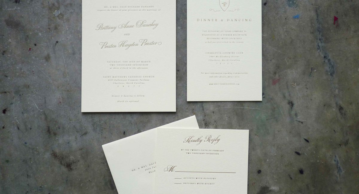 Wedding Invitations, Foil Stamped, Unusual Paper, Cream Paper, Gold Foil, Wedding Suite, Custom Design, Invitations, Wedding Stationery