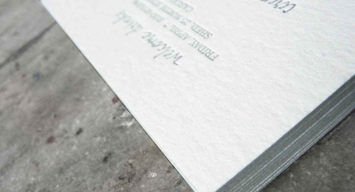 Wedding Invitations, Letterpress Printed, Textured Paper, Monochromatic, Wedding Suite, Custom Design, Invitations, Wedding Stationery