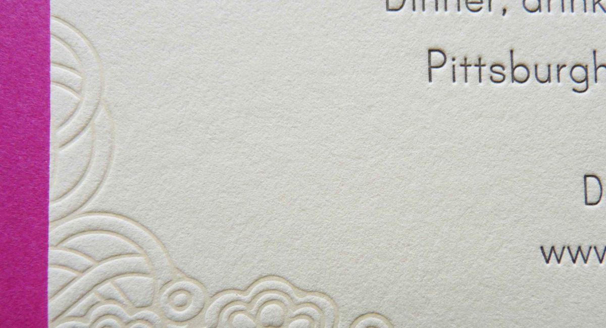 Wedding Invitations, Letterpress Printed, Textured Paper, Wedding Suite, Custom Design, Invitations, Wedding Stationery, Henna, Blind Deboss