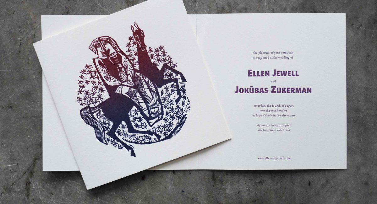 Wedding Invitations, Letterpress Printed, Textured Paper, Wedding Suite, Custom Design, Invitations, Wedding Stationery, Rainbow Roll, Block Printing