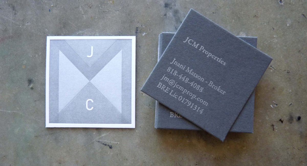 Metallic Inks, Overprinting, Odd Size, Duplex, Letterpress Printed, Business Cards, Graphic Design, Square Business Card