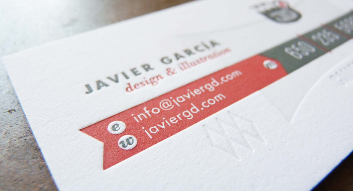 Blind Deboss, Letterpress Printed, Duplex, Painted Edges, Business Cards, Graphic Design, Custom Design, Tint