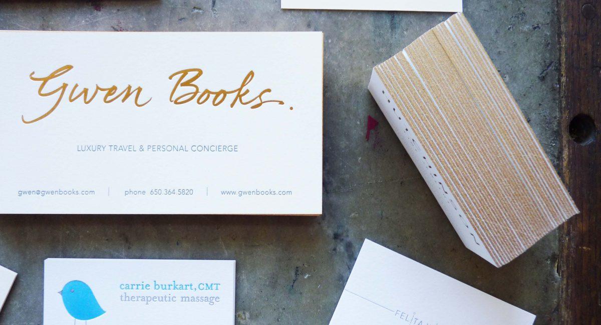 Metallic Inks, Letterpress Printing, Graphic Design, Custom Design, Edge Painting, Unusual Paper