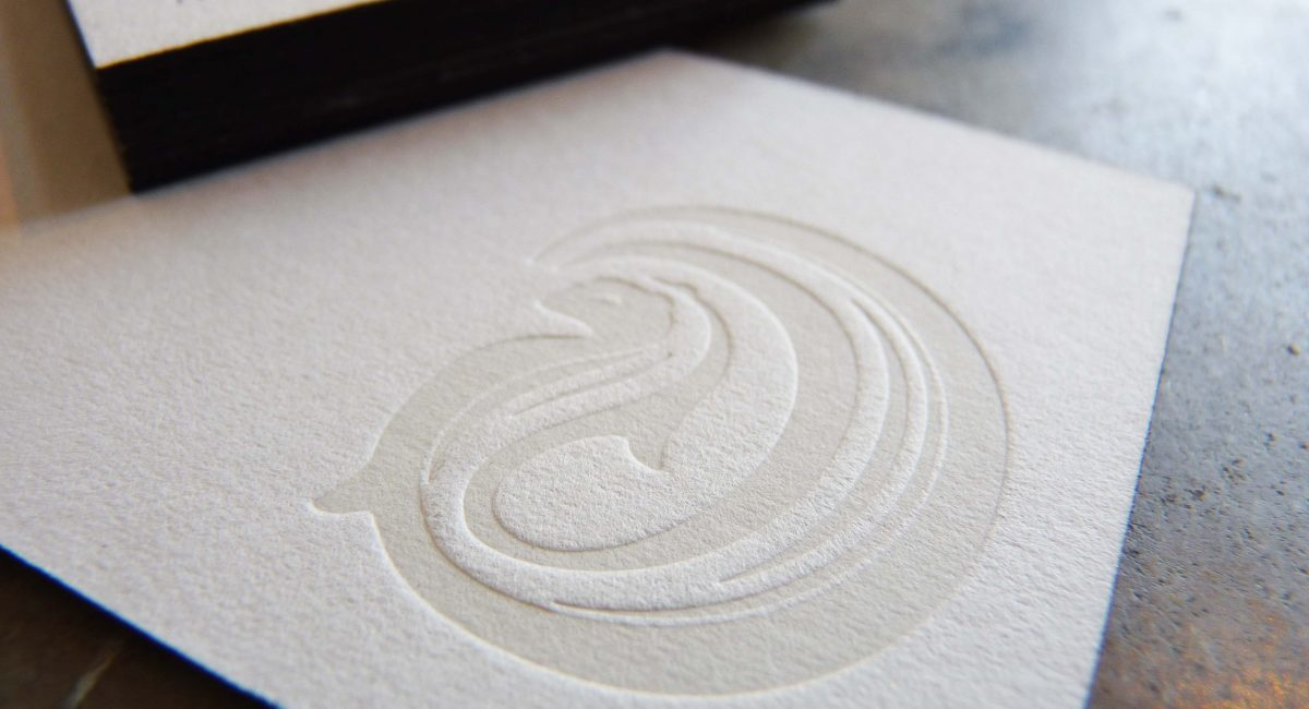 Tint, Unusual Paper, Letterpress Printed, Edge Painted, Letterpress, Graphic Design, Custom Design
