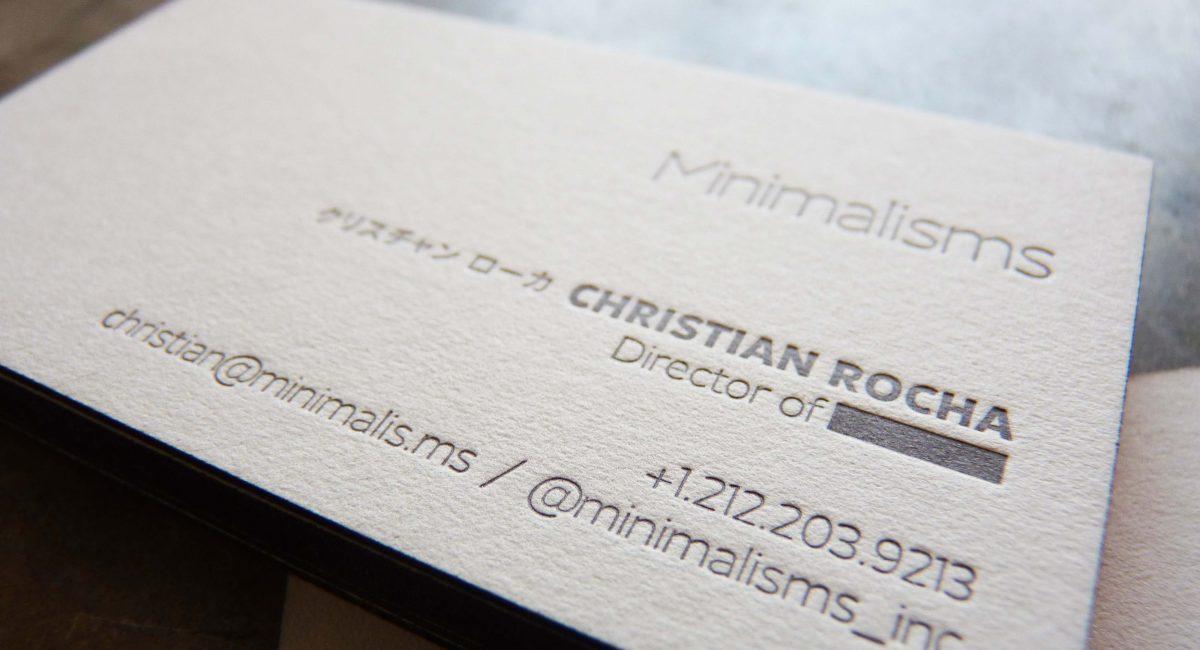 Tint, Unusual Paper, Letterpress Printed, Edge Painted, Letterpress, Graphic Design, Custom Design