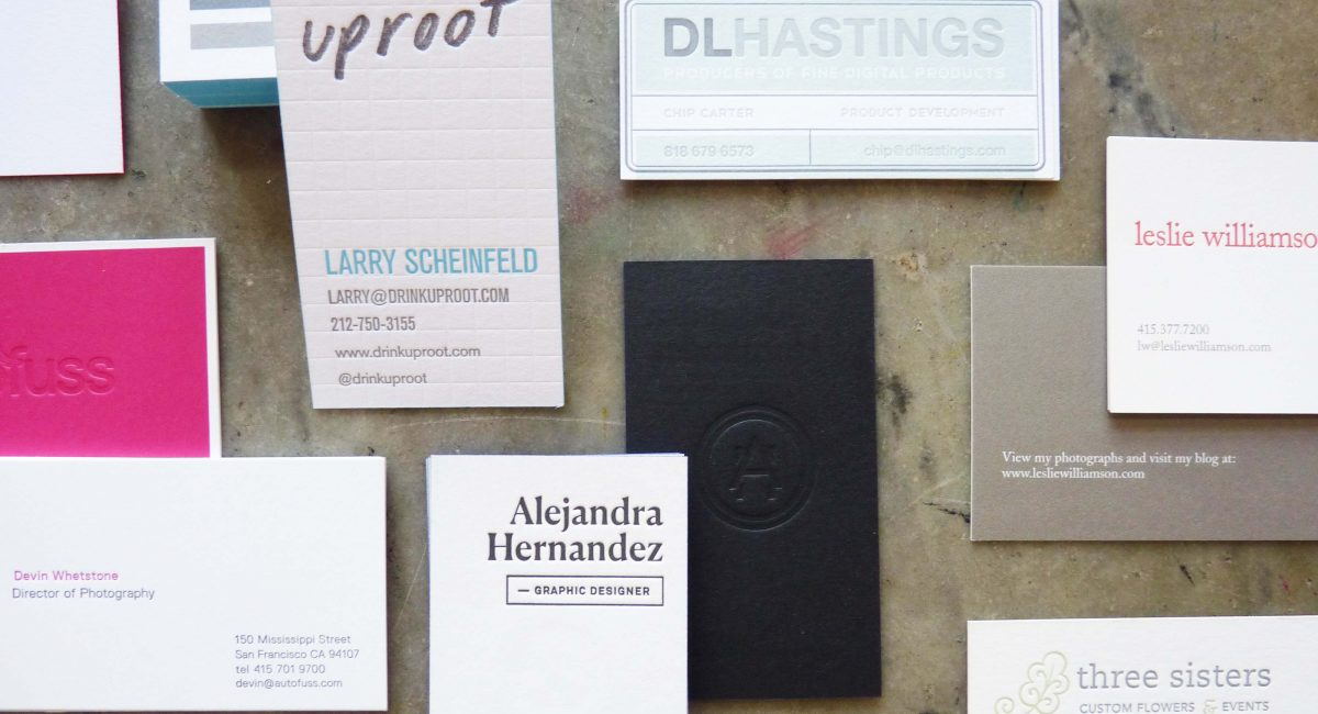 Multi-Process Business Cards | Paper Story - Dependable Letterpress