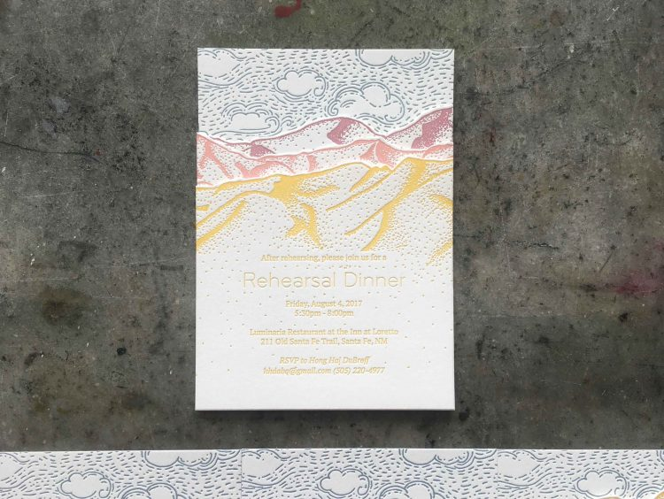 Weddings Dependable Letterpress