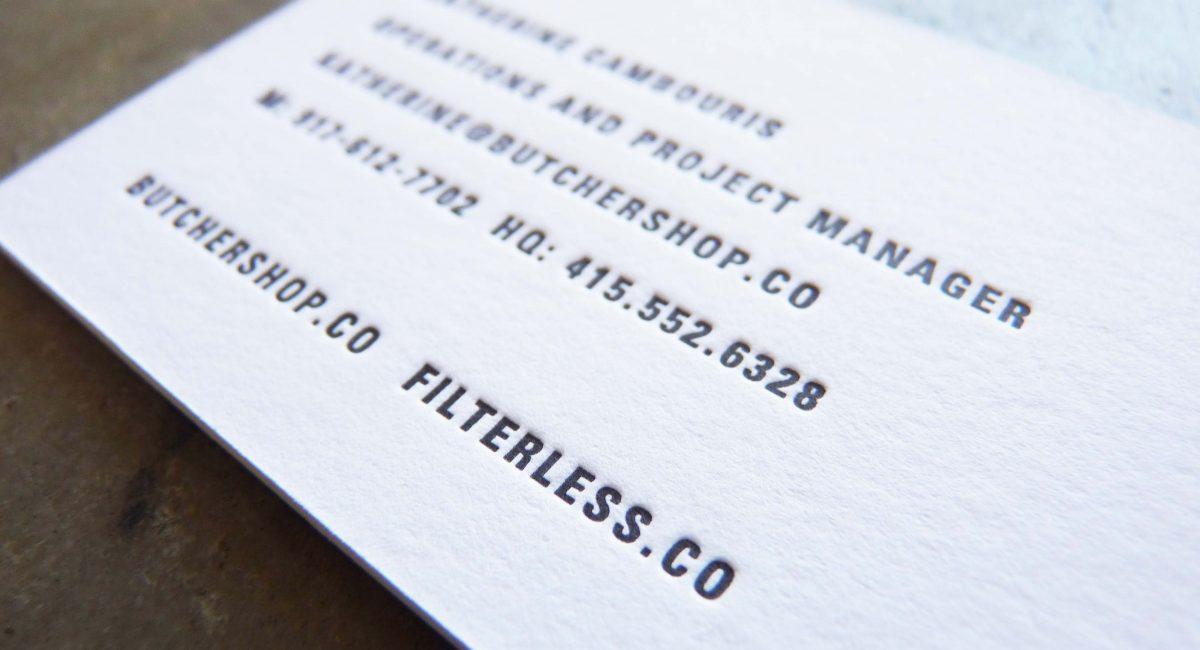 Blind Deboss, Thick Paper, Letterpress Printed, Graphic Design, Custom Design, Business Cards