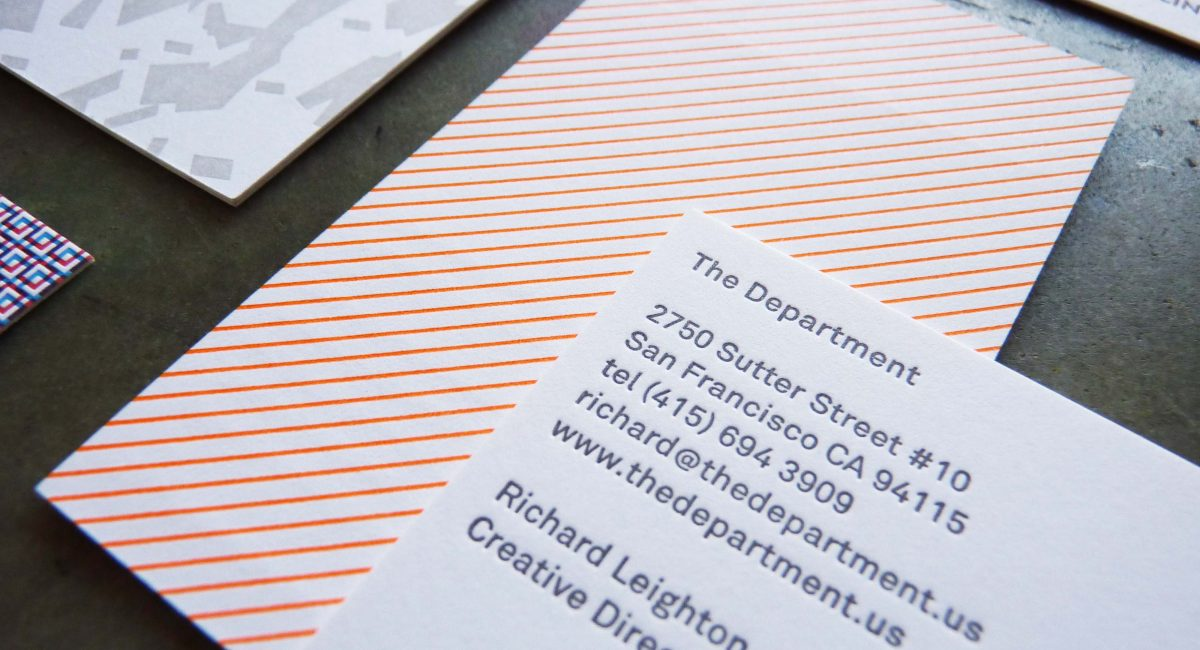 Business Cards with Patterns | Paper Story - Dependable Letterpress