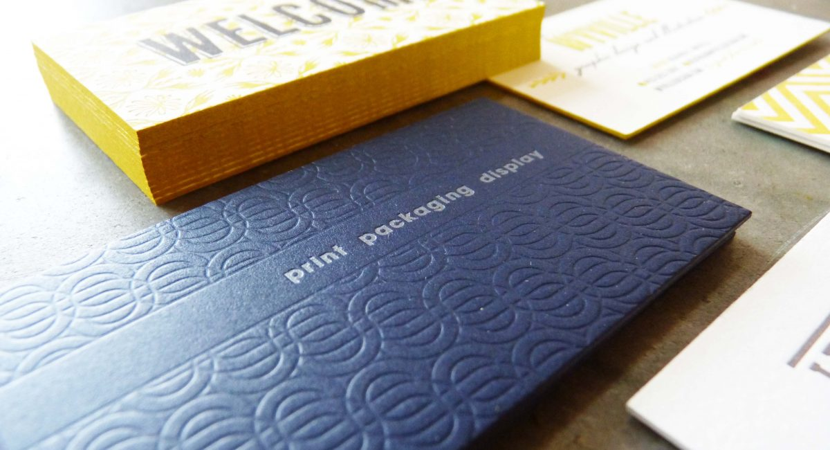 Patterns, Letterpress Printed, Offset Printed, Business Cards, Graphic Design, Custom Design, Business Cards