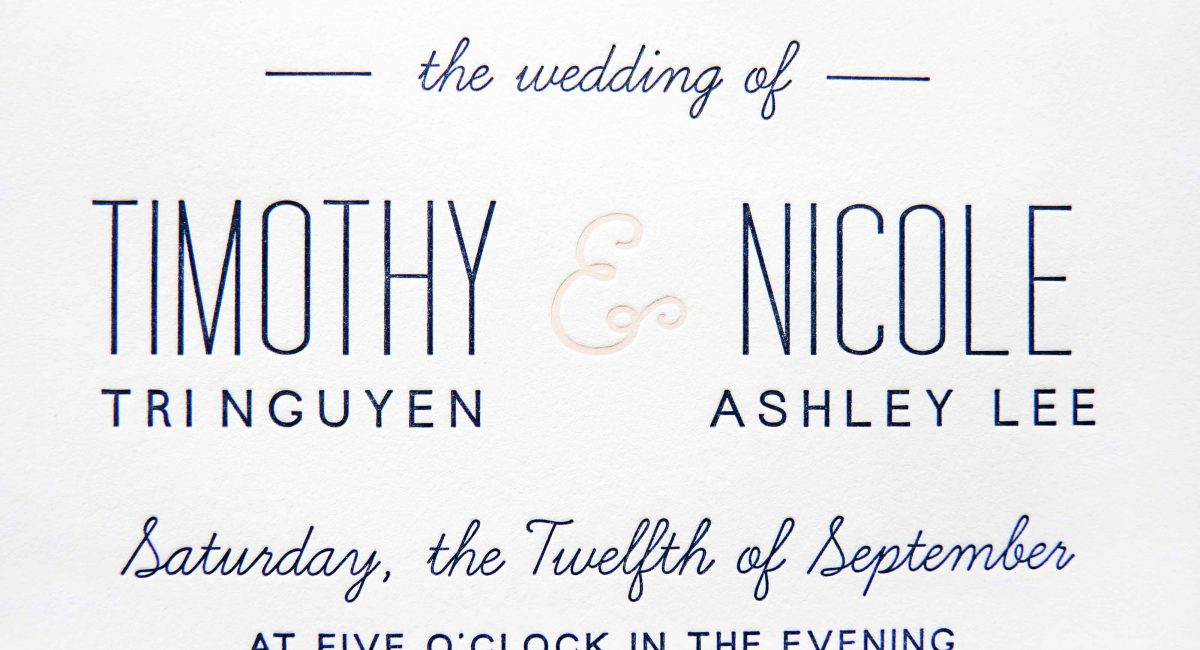 Wedding Invitations, Letterpress Printed, Textured Paper, Wedding Suite, Custom Design, Invitations, Wedding Stationery, Pink, Blue