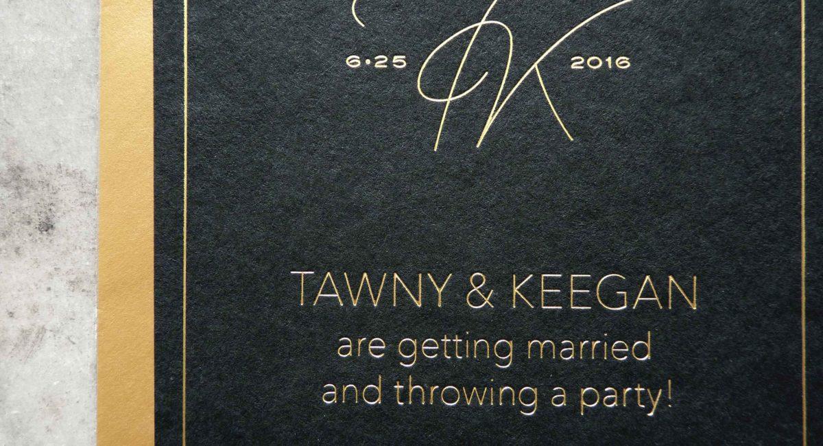 Wedding Invitations, Foil Stamped, Gold Foil, Wedding Suite, Custom Design, Invitations, Wedding Stationery, Black Paper, Graphic Design, Monogram