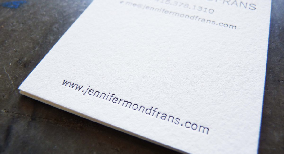 Unusual Paper, Letterpress Printed, Business Cards, Graphic Design, Custom Design