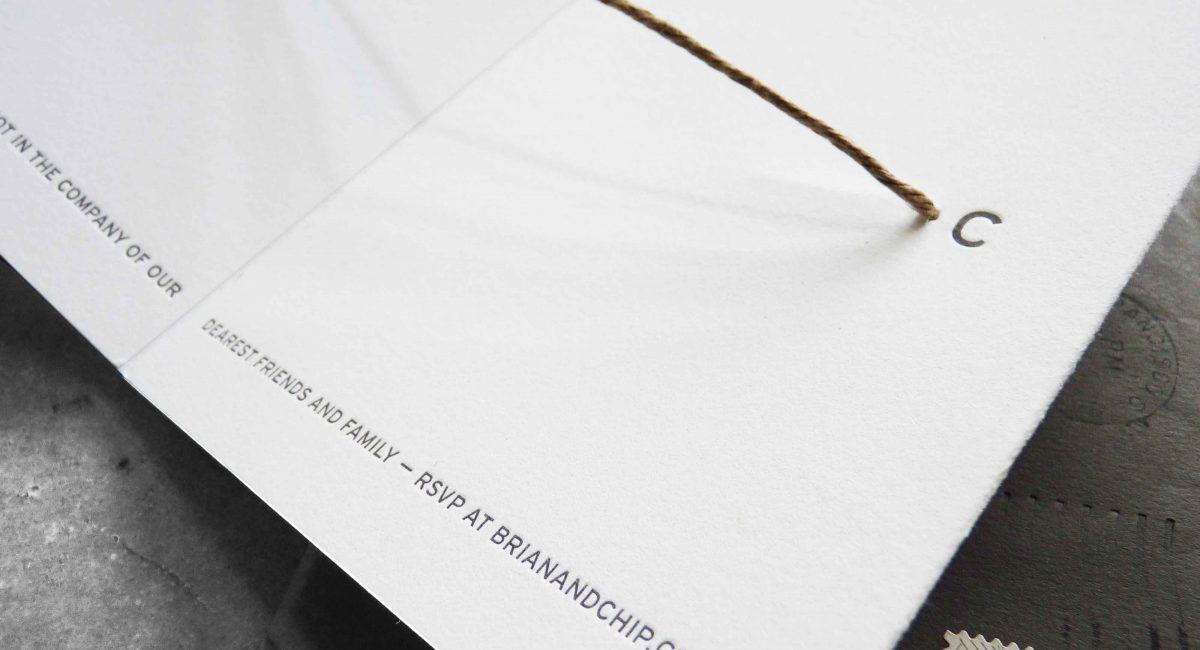 Wedding Invitations, Wedding Suite, Custom Design, Invitations, Wedding Stationery, Letterpress Printed, Creative Wedding Invitation, Tie the Knot