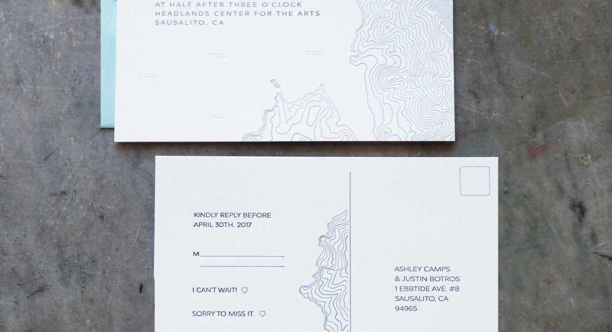 Topographical Wedding Invitations, Wedding Invitations, Invites, Letterpress Printed, Wedding Suite, Custom Design, Graphic Design, Blind Deboss