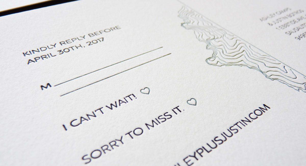 Topographical Wedding Invitations, Wedding Invitations, Invites, Letterpress Printed, Wedding Suite, Custom Design, Graphic Design, Blind Deboss