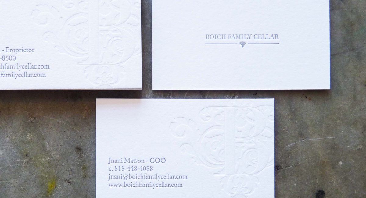 Triplex, Business Cards, Letterpress Printed, Blind Deboss, Emboss, Graphic Design, Custom Design