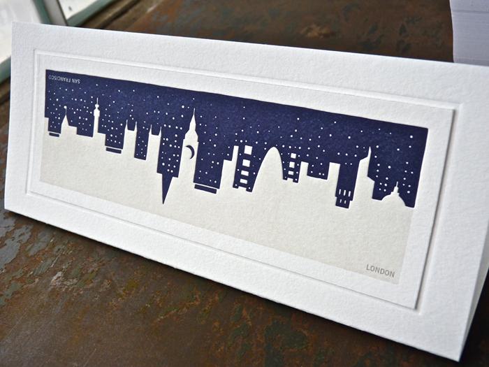 Turner Duckworth London skyline letterpress card