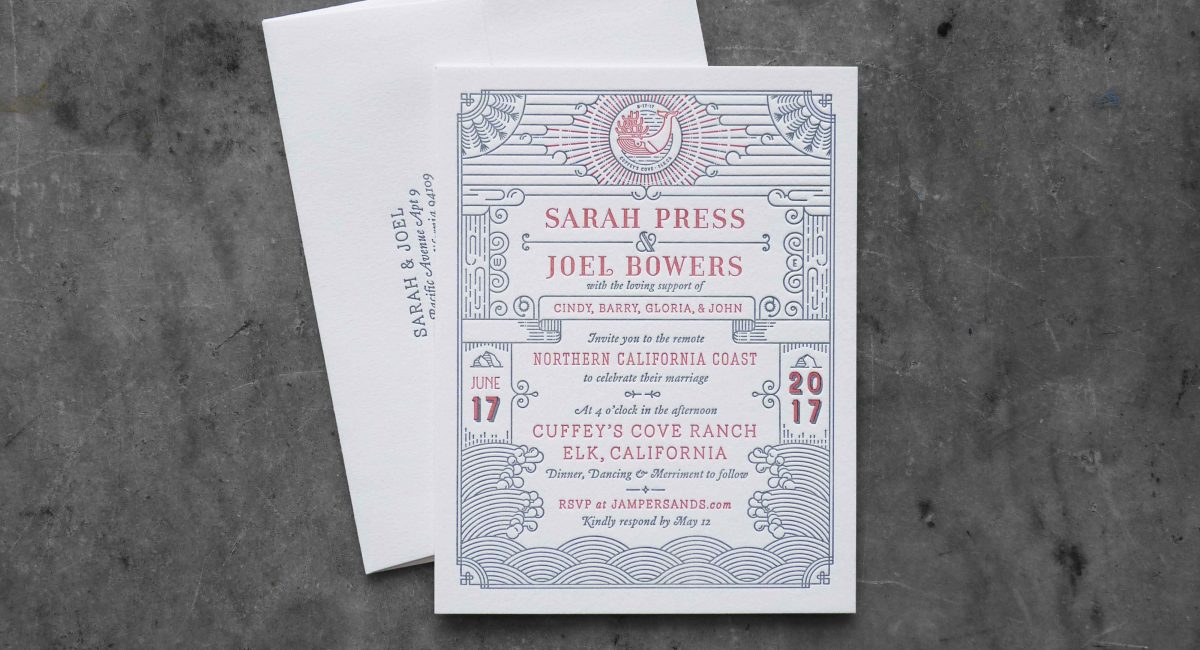 Wedding Invitations, Letterpress Printed, Wedding Suite, Custom Design, Invitations, Wedding Stationery, Nautical